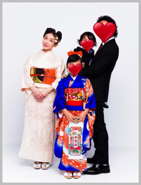 加護亜依の七五三家族写真