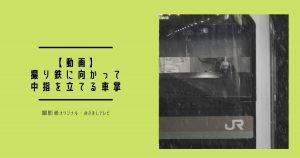 【動画】撮り鉄に向かって中指を立てる車掌!JR八高線・箱根ヶ崎駅