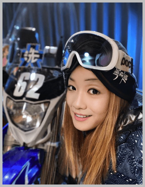 美人ライダー宗谷の蒼氷、目元の加工がおかしいヤスコさんとバイク