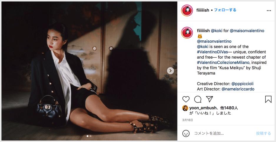 ヴァレンティノ帯CM、カメラマンのFish Zhangのインスタグラムより「草迷宮」について