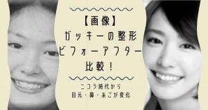 【画像】ガッキーの整形ビフォーアフター比較!ニコラ時代から目元・鼻・あごが変化
